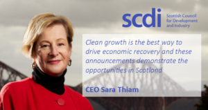 SCDI welcome the UK government's announcement today of investment in low carbon measures.